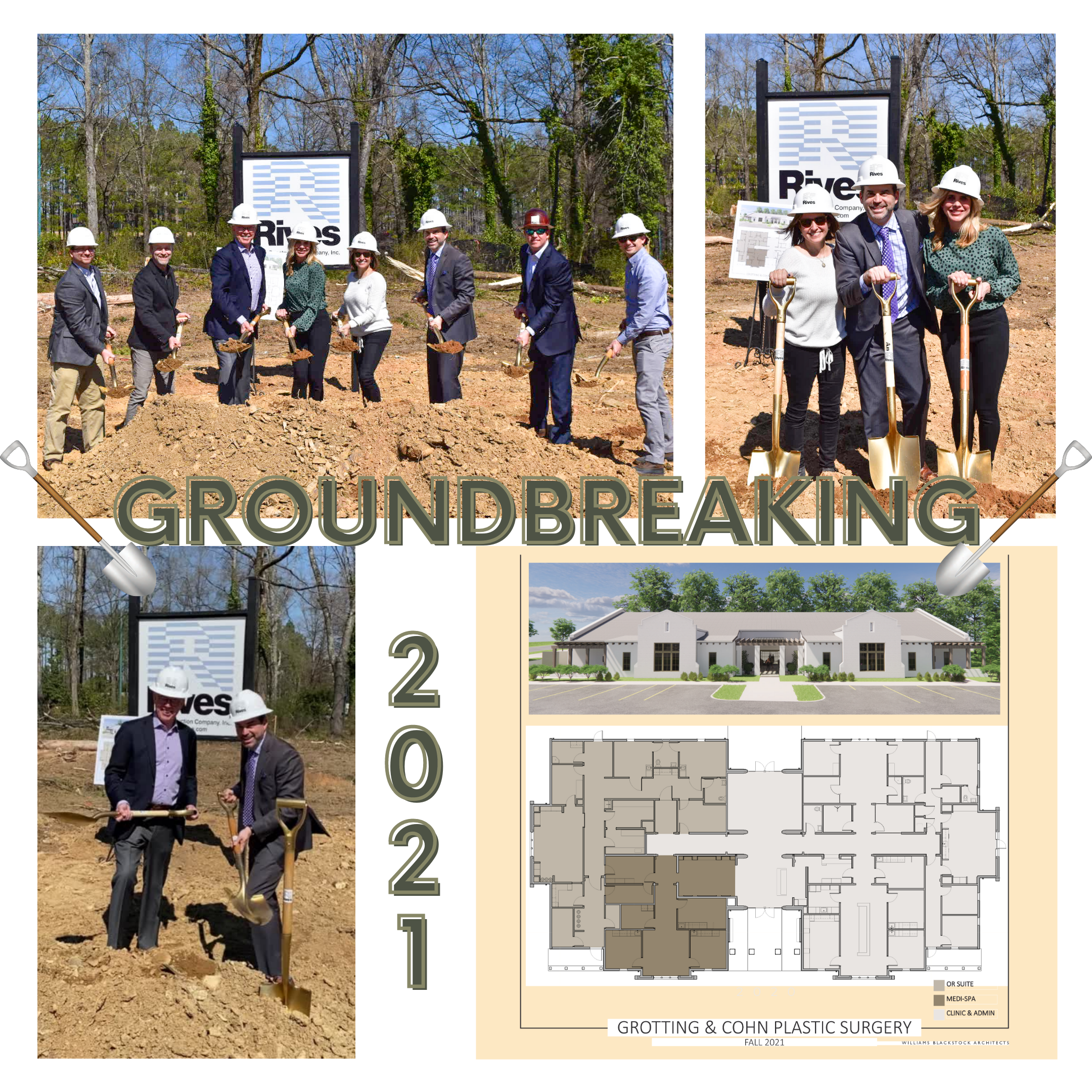 Groundbreaking Ceremony for the New Office